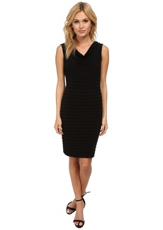 Calvin Klein Pin Tuck Sheath with Cowl Neck CD5A1B9K