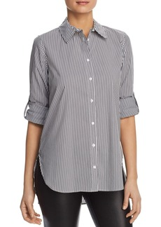Calvin Klein Pinstriped Boyfriend Top