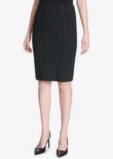 Calvin Klein Pinstriped Pencil Skirt