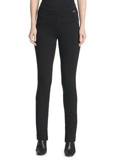 Calvin Klein Pinstriped Straight-Leg Pants