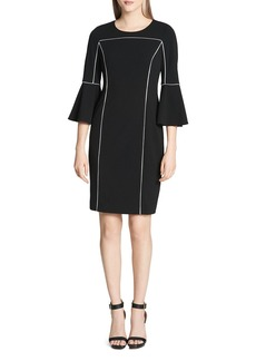 Calvin Klein Piped Bell-Sleeve Dress