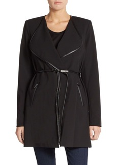 Calvin Klein Piped Wrap Coat