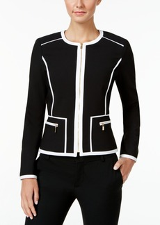 Calvin Klein Piped Zip-Front Jacket