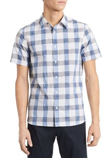 Calvin Klein Plaid Button Front Shirt