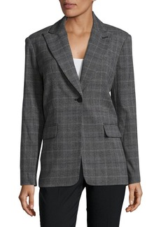 Calvin Klein Plaid Buttoned Jacket