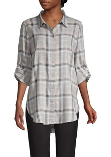 Calvin Klein Plaid Cotton-Blend Shirt