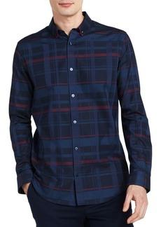 Calvin Klein Plaid Cotton Button-Down Shirt