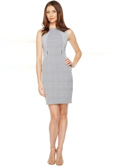 Calvin Klein Plaid Jacquard Sheath Dress