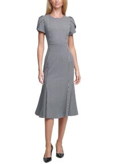 Calvin Klein Plaid Midi Sheath Dress