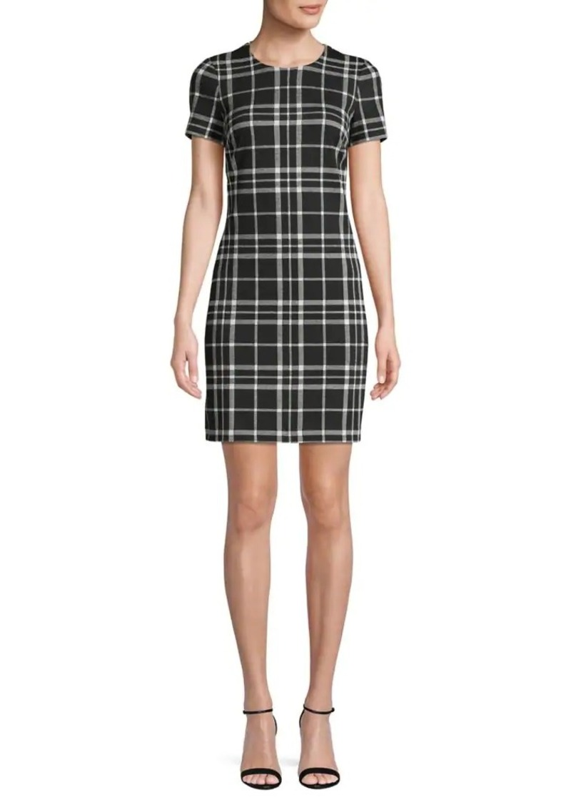 Calvin Klein Plaid Mini Dress