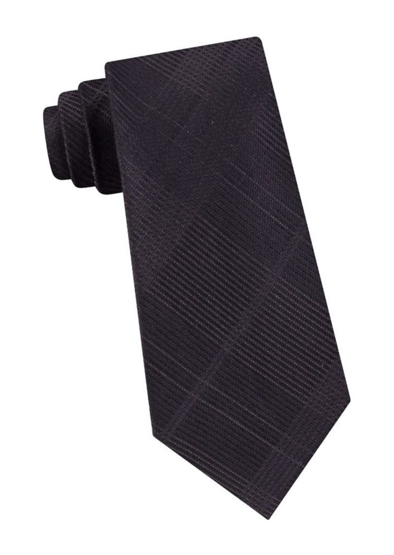 Calvin Klein Plaid-Print Tie