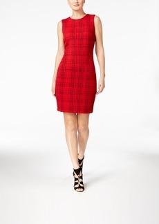 Calvin Klein Plaid Sheath Dress