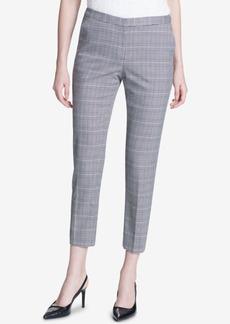 Calvin Klein Plaid Straight-Leg Ankle Pants, Regular & Petite