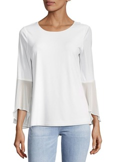 Calvin Klein Plain Flare-Sleeve Top