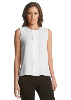 Calvin Klein Pleat Front Blouse