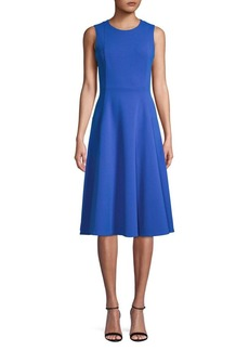 Calvin Klein Pleated A-Line Dress