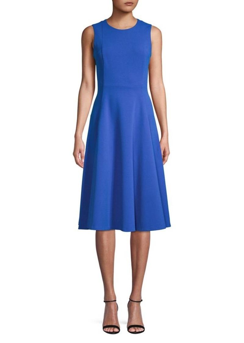 Calvin Klein Pleated A-Line Dress