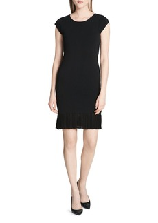 Calvin Klein Pleated-Hem Knit Dress