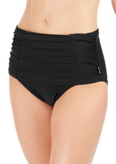 Calvin Klein Pleated High-Waist Bikini Bottoms Women's Swimsuit