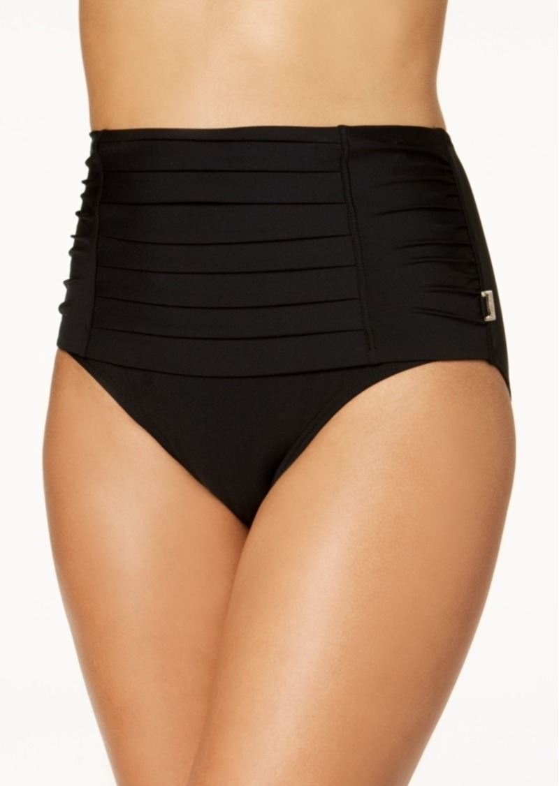 b9fc5b4f18a81 Calvin Klein Calvin Klein Pleated High-Waist Bikini Bottoms Women's ...