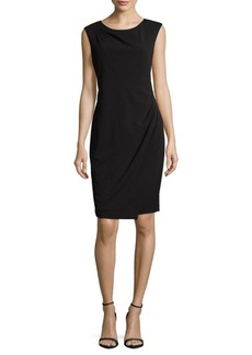 Calvin Klein Pleated Knee-Length Dress