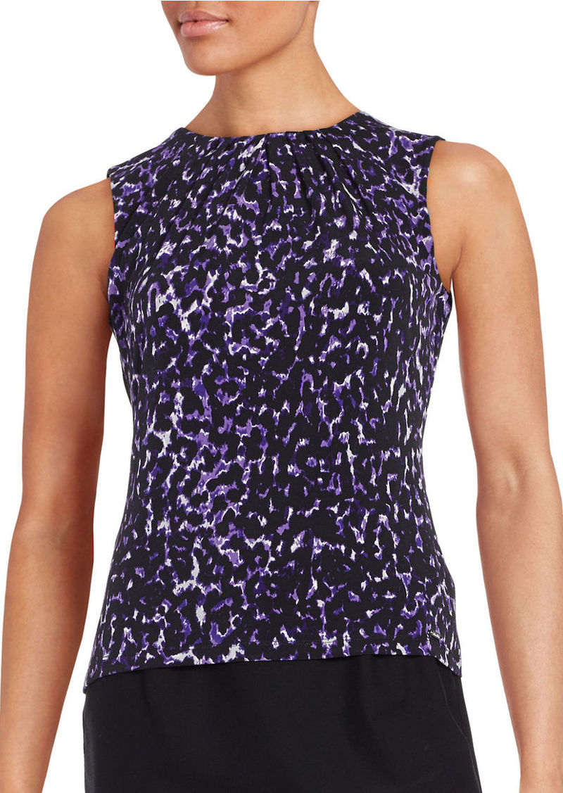 CALVIN KLEIN Pleated Knit Shell