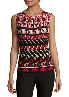 Calvin Klein Pleated Printed Top