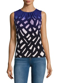 Calvin Klein Pleated Roundneck Blouse