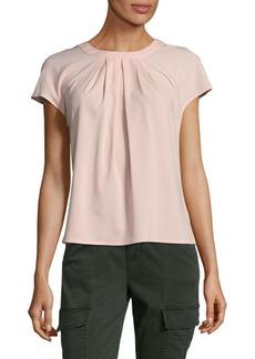 Calvin Klein Pleated Short Sleeve Top