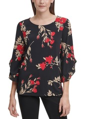 Calvin Klein Pleated Sleeve Blouse