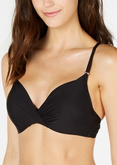 Calvin Klein Pleated Underwire Bikini Top Women's Swimsuit
