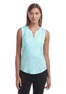 Calvin Klein Pleated V-Neck Top