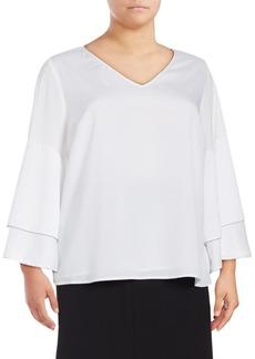 Calvin Klein Plus Bell-Sleeve Blouse