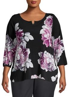 Calvin Klein Plus Floral Blouse