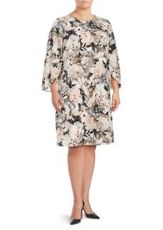 Calvin Klein Plus Floral Shift Dress