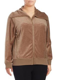 Calvin Klein Plus Plus Funnelneck Zip-Front Jacket