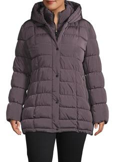 Calvin Klein Plus Hooded Puffer Jacket