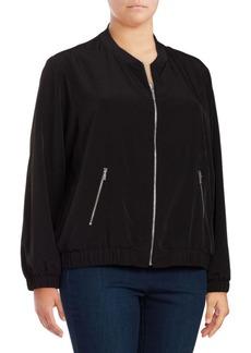 Calvin Klein Plus Knit Bomber Jacket