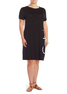 Calvin Klein Plus Logo T-Shirt Dress
