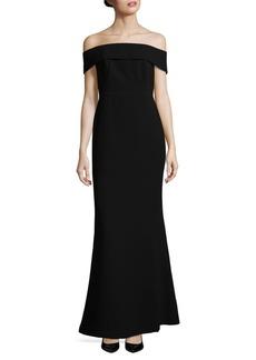 Calvin Klein Plus Off-the-Shoulder Gown