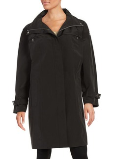 Calvin Klein Plus Packable Rain Coat