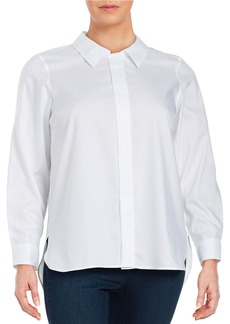 CALVIN KLEIN PLUS Plus Collared Button-Front Shirt