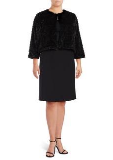 Calvin Klein Plus Faux Fur Crewneck Jacket