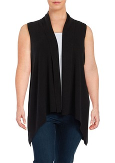 CALVIN KLEIN PLUS Plus Knit Open-Front Vest