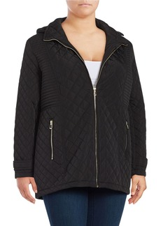 CALVIN KLEIN PLUS Plus ?Removable Hood Quilted Coat