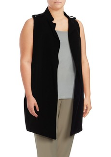 Plus Size Open Front Vest