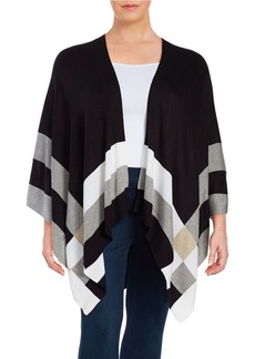 CALVIN KLEIN PLUS Plus Striped Knit Wrap