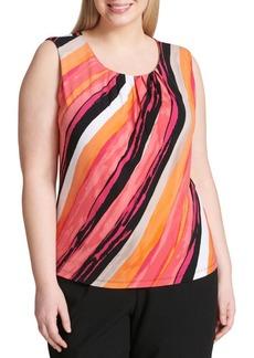 Calvin Klein Plus Side Stripe Blouse