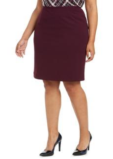 Calvin Klein Plus Size Back-Slit Pencil Skirt