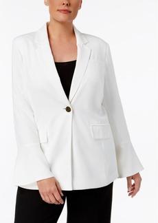 Calvin Klein Plus Size Bell-Sleeve Soft Blazer